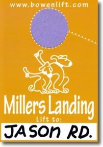 Millers Landing - to Jason Rd. Neighborhood Mirror Hanger / Bowen Island