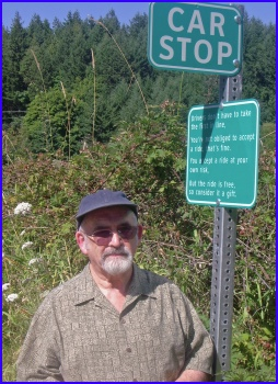 Barry Mathias at a Pender Island CAR STOP