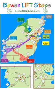 Bowen LIFT map of lift stops